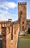Castelvecchio - Scaligero castle bridge in Verona Royalty Free Stock Photo