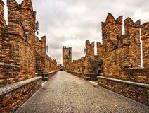 Castelvecchio, Verona, Italia fotografía de archivo