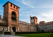 Castelvecchio a Verona, Italia del Nord Fotografia Stock Libera da Diritti