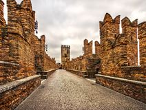 Castelvecchio, Verona, Italien stockfotografie