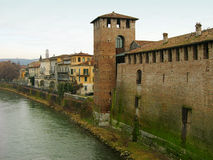 Castelvecchio in Verona, Italien Lizenzfreie Stockfotos