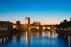 Castelvecchio, Verona - Italien Stockbilder