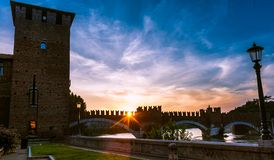 Castelvecchio in Verona, Northern Italy Royalty Free Stock Image