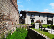 Castelvecchio wall and museum , Verona - Italy. Castelvecchio wall and the museum building. Verona is a city straddling the Adige river in Veneto, northern Italy Stock Photos