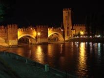 Castelvechio Verona ist der wichtigste Militärbau der Scaliger-Dynastie, die die Stadt in den Mittelalter anordnete lizenzfreie stockfotografie