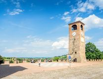 Main square and medieval buildings in Castelvetro di Modena, Italy royalty free stock image