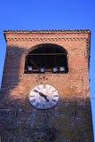 Castelvetros Glockenturm Stockfotos