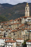 Castelvittorio. Ancient village of Italy Stock Image