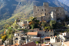 Castelvittorio. Ancient village of Italy Royalty Free Stock Photography