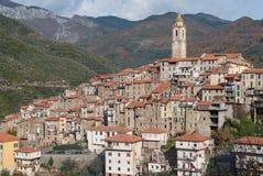 Castelvittorio Vila antiga, província dos impérios, Itália Fotos de Stock Royalty Free
