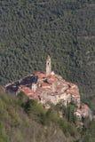 Castelvittorio Vila antiga, província dos impérios, Itália Fotografia de Stock