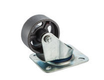 Caster steel wheels Royalty Free Stock Photography