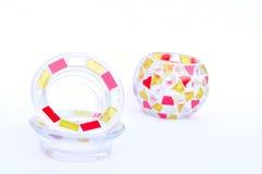 Castiçais do vidro de mosaico Imagens de Stock Royalty Free