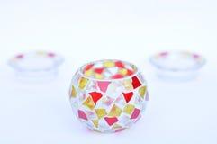 Castiçais do vidro de mosaico Imagem de Stock Royalty Free