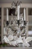 Castiçal antigo com velas Fotos de Stock Royalty Free