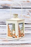 Castiçal decorativo com trajeto de grampeamento Foto de Stock Royalty Free