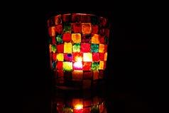 Castiçal do mosaico colorido brilhante Imagens de Stock Royalty Free