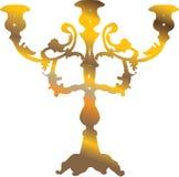 Castiçal dourado Fotografia de Stock Royalty Free