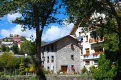 Castiello de Jaca wioska w Huesca, Hiszpania Fotografia Royalty Free