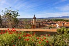 Castiglia Spagna di Santa Maria Avila Ancient Medieval City del convento Immagini Stock Libere da Diritti