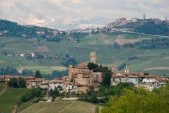 Castiglion Falletto, Piedmonte,意大利 免版税库存图片