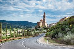 Castiglion Fiorentino in Toscanië - Italië Stock Afbeeldingen