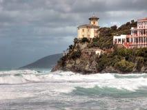 castiglioncello海岸意大利托斯卡纳 库存照片