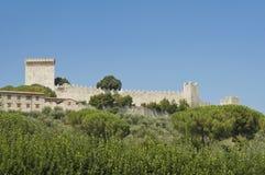 castiglione castle del lago狮子翁布里亚 免版税库存图片