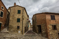 Castiglione dOrcia alley, Tuscany Royalty Free Stock Photo