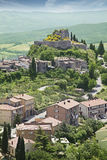 Castiglione d'Orcia place. Tuscany, Italy Royalty Free Stock Photography
