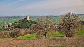 Castiglione d'Orcia, Siena, Tuscany, Italy - landscape with medi Royalty Free Stock Image