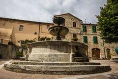 Castiglione dOrcia square Stock Image