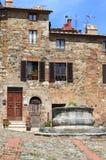 Castiglione d' Orcia in Tuscany Stock Photo