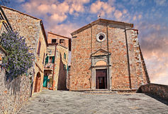 Castiglione d& x27;Orcia, Siena, Tuscany, Italy: Church of the Saints Royalty Free Stock Images