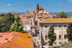 castiglione del Lago Old城镇,意大利 免版税库存图片