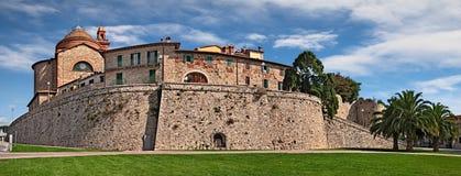 Castiglione del Lago, Perugia, Umbrië, Italië: mening van de stad o stock foto