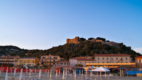 Castiglione della Pescaia. Ancient seaside town in the province of Grosseto (Tuscany), Italy. Today Castiglione della Pescaia is known for its beaches and has Royalty Free Stock Image