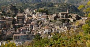 Castiglione di Sicilia in the territory of wine of Etna Royalty Free Stock Images