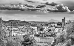 Castiglione Fiorentino, eine alte mittelalterliche Stadt in Toskana lizenzfreies stockfoto