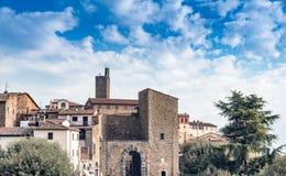 Castiglione Fiorentino en Toscane, Italie Photographie stock libre de droits
