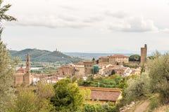 Castiglione Fiorentino, una ciudad medieval antigua en Toscana Fotografía de archivo