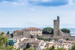 Castiglione Fiorentino, una ciudad medieval antigua en Toscana Imagenes de archivo