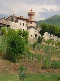 Castiglione garfagnana城堡托斯卡纳意大利 免版税库存照片