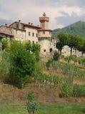 Castiglione garfagnana kasztel Tuscany Italy Zdjęcia Royalty Free