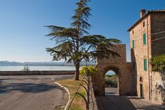 Castiglione of the Lake. Trasimeno, Tuscany stock photos