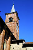 Castiglione olona old   church tower bell sunny day Stock Photos