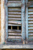 castiglione olona varese italy abstract  window    in the white Stock Photography