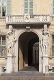 Castiglioni palace, Sordello square, Mantova. Castiglioni palace in the Sordello square, Mantova, Lombardy, Italy Royalty Free Stock Photos
