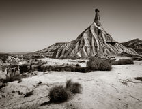 Castilditierra. Strange rock formations in the Desert of Bardenas Reales Stock Photography