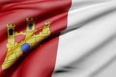 Castilla La Mancha flag Royalty Free Stock Images